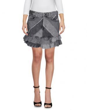 Джинсовая юбка MARC BY JACOBS. Цвет: серый