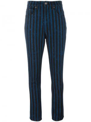Полосатые джинсы Marc Jacobs. Цвет: синий