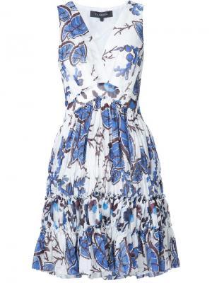 Приталенное платье Twist Mini Thakoon. Цвет: белый
