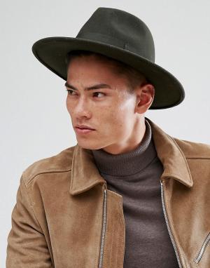 Boardmans Широкополая мягкая фетровая шляпа Cryil. Цвет: зеленый
