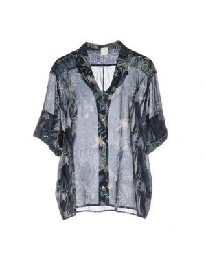 Pубашка DES PETITS HAUTS. Цвет: темно-синий
