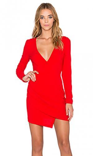 Платье с длинным рукавом next time tiger Mist. Цвет: красный