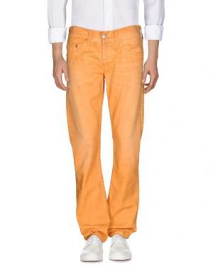 Джинсовые брюки TRUE RELIGION. Цвет: оранжевый