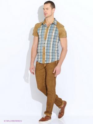 Рубашка RPS. Цвет: зеленый, голубой, бежевый