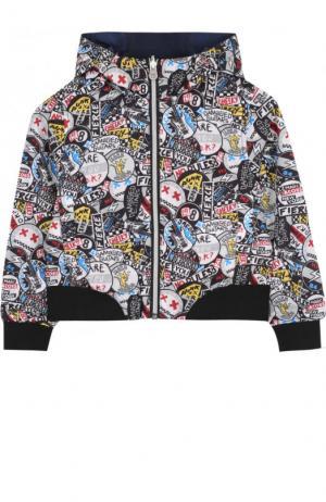Двусторонняя ветровка с капюшоном Marc Jacobs. Цвет: синий