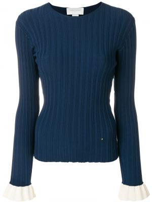 Ребристый свитер Esteban Cortazar. Цвет: синий