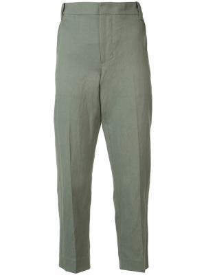 Cropped pants Vince. Цвет: зелёный