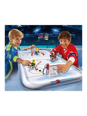 Хоккей: Хоккейная арена Playmobil. Цвет: белый
