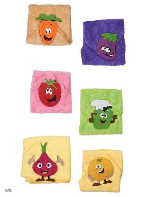 Набор полотенец - 6 шт. (40*40) Dorothy's Нome. Цвет: оранжевый, зеленый, фиолетовый, красный
