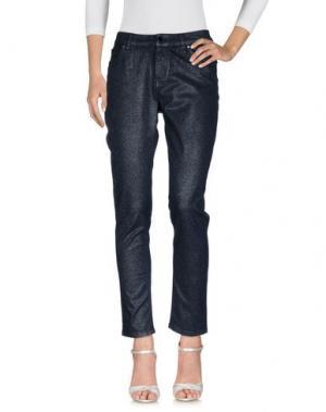 Джинсовые брюки MARIA GRAZIA SEVERI. Цвет: темно-синий