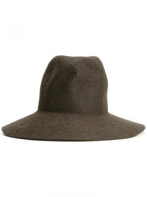 Фетровая шляпа Kijima Takayuki. Цвет: зелёный