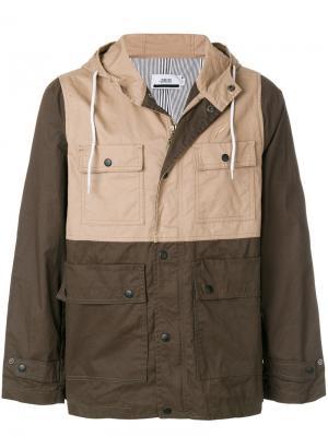 Куртка с капюшоном  и накладными карманами Publish. Цвет: зелёный