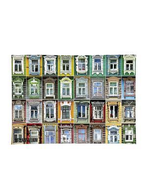 Обложка для паспорта Большие окна Mitya Veselkov. Цвет: желтый, зеленый, красный