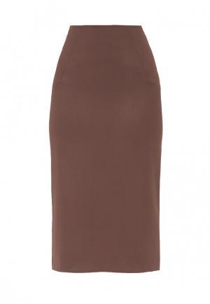 Юбка Emka. Цвет: коричневый