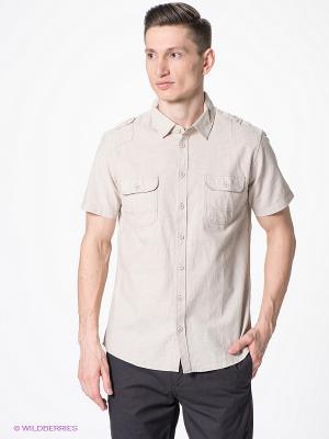 Рубашка SELA. Цвет: светло-бежевый