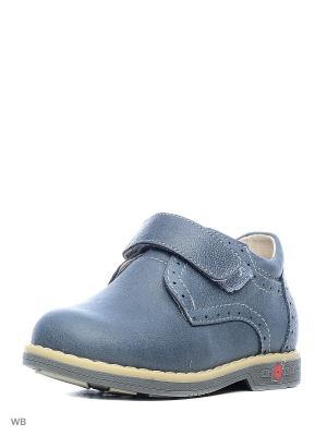 Ботинки Зебра. Цвет: серо-голубой