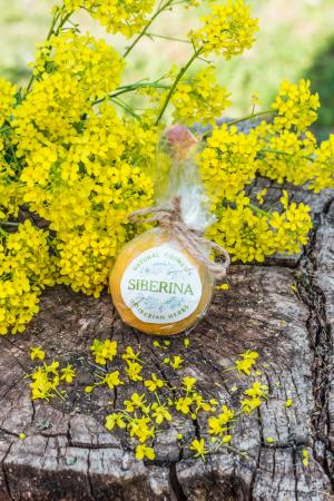 Бомбочка для ванны Апельсин-корица SIBERINA