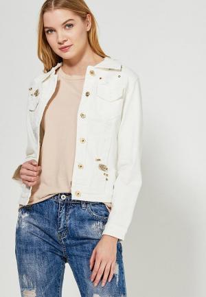 Куртка джинсовая Marissimo. Цвет: белый