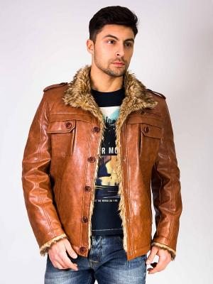 Куртка Berloga. Цвет: светло-коричневый