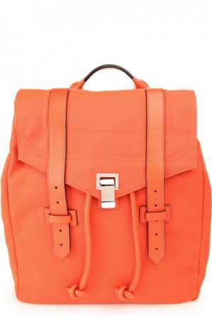 Текстильный рюкзак PS1 с отделкой из кожи Proenza Schouler. Цвет: красный