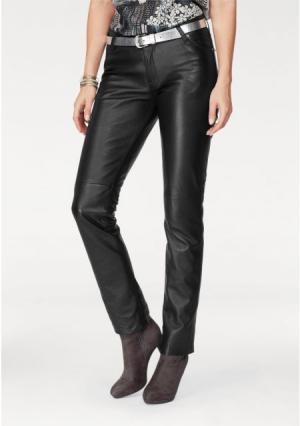 Кожаные брюки Laura Scott. Цвет: черный