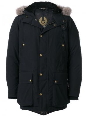 Стеганое пальто с капюшоном Belstaff. Цвет: чёрный