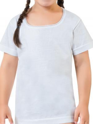 Футболка для девочек Oztas kids' underwear. Цвет: белый