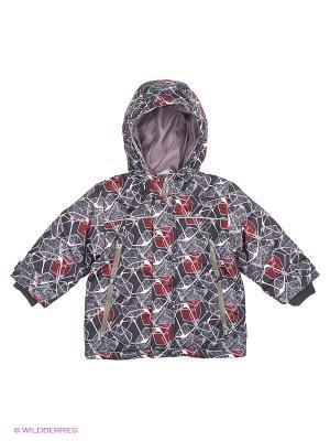 Куртка Hippo Hoppo. Цвет: серый, темно-красный