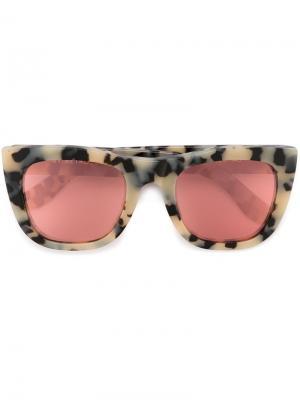 Солнцезащитные очки Gals Gel Retrosuperfuture. Цвет: телесный