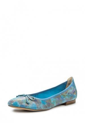 Балетки Caprice. Цвет: голубой
