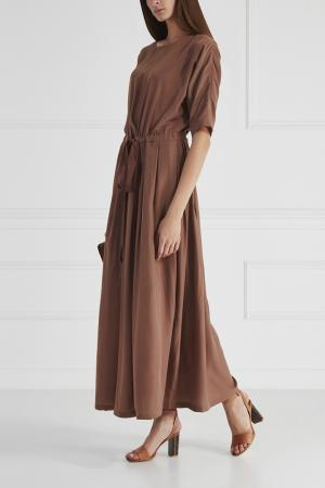 Однотонное платье Cyrille Gassiline. Цвет: капучино