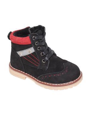 Ботинки Капитошка.. Цвет: черный, красный