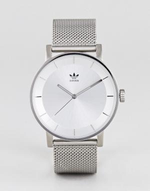 Adidas Серебристые часы Z04 District. Цвет: серебряный
