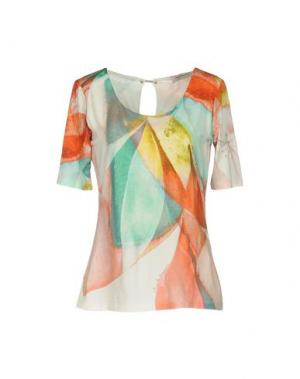 Блузка ANGELO MARANI. Цвет: коралловый