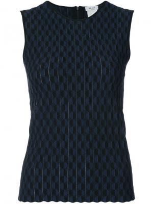 Приталенная блузка с узором Akris Punto. Цвет: чёрный