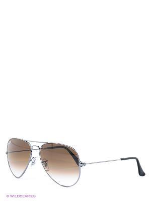 Очки солнцезащитные AVIATOR LARGE METAL Ray Ban. Цвет: коричневый, черный