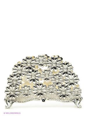 Салфетница Ромашка Marquis. Цвет: серебристый
