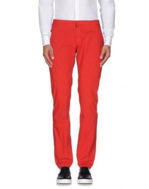 Повседневные брюки MASSIMO BRUNELLI. Цвет: красный