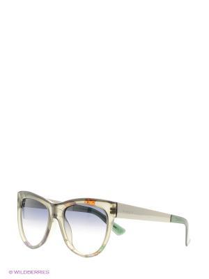 Солнцезащитные очки GUCCI. Цвет: серый, черный