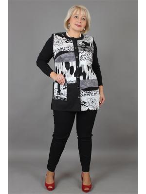 Блузка NadiN. Цвет: белый, черный