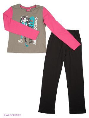 Пижама Monster High. Цвет: черный, серебристый