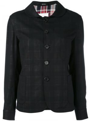 Пиджак с закругленным воротником Maison Margiela. Цвет: чёрный