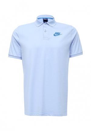 Поло Nike. Цвет: голубой