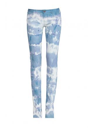 Кожаные брюки 160416 Jitrois. Цвет: синий