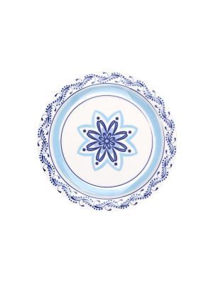 Набор тарелок десертных ПУЭБЛА 20 см 6 шт Biona. Цвет: голубой