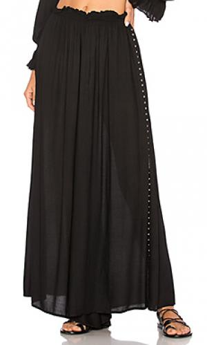 Кружевные брюки-накидка studded JONATHAN SIMKHAI. Цвет: черный
