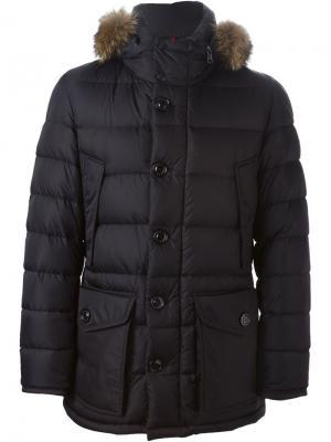 Дутая куртка Cluny Moncler. Цвет: чёрный