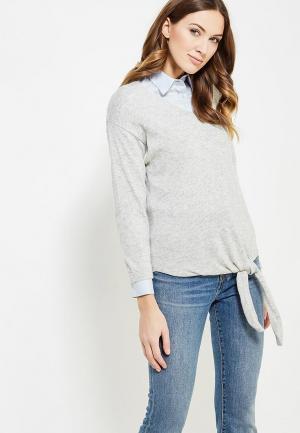 Пуловер Marks & Spencer. Цвет: серый