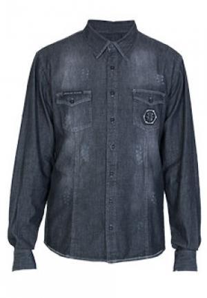 Рубашка PHILIPP PLEIN. Цвет: серый