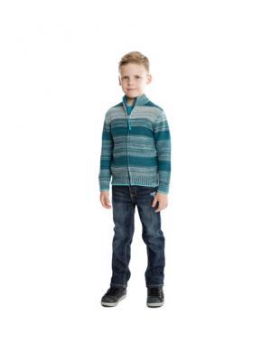 Брюки текстильные джинсовые для мальчиков PlayToday. Цвет: синий